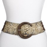 Streets Ahead Python Embossed Belt in Brown