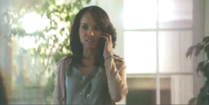 Olivia Pope Takes An Call from Fitz, President Of The United States