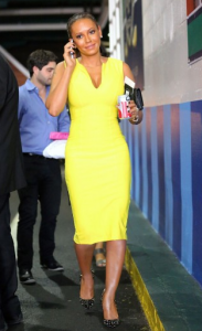 Melanie Brown In Yellow Dress